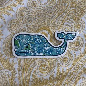 Vineyard Vines Floral Whale Sticker